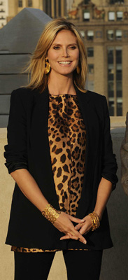 Heidi Klum Wears Leopard on Project Runway Season Seven Premiere
