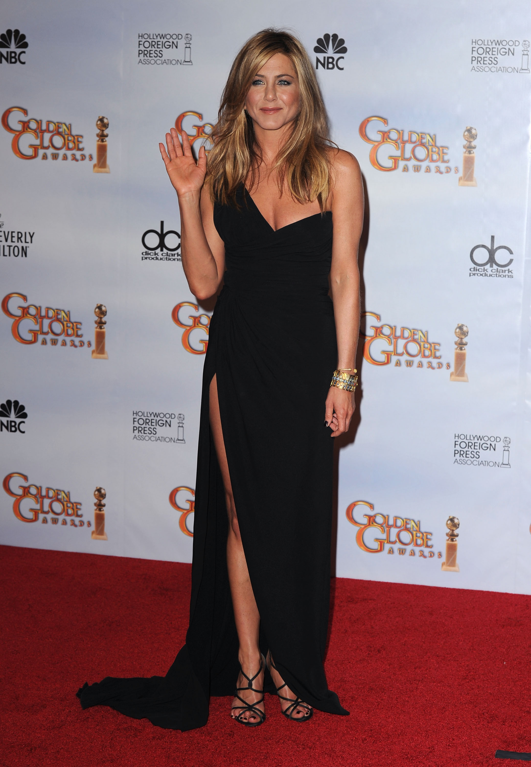 Jennifer Aniston 39 S Golden Globe Legs Photos 2010 01 18 09