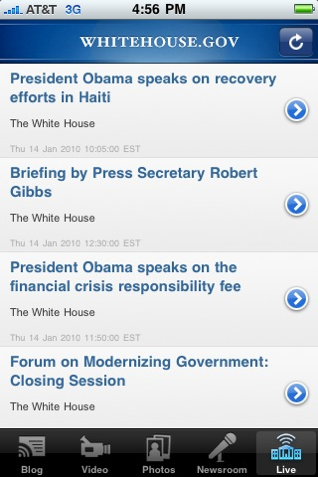 The White House Releases iPhone App