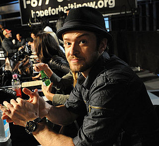 Slide Photo Justin Timberlake at Haiti Telethon