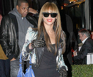 Slide Photo of Beyonce Knowles Leaving Dinner in Paris
