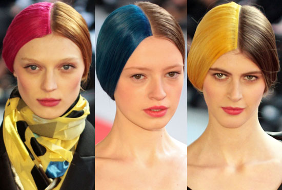 Two-Toned Hair at Alexis Mabille