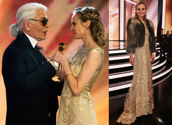 Diane Kruger Wins Best International Actress for Inglorious Basterds at the 2010 Goldene Kamera Awards