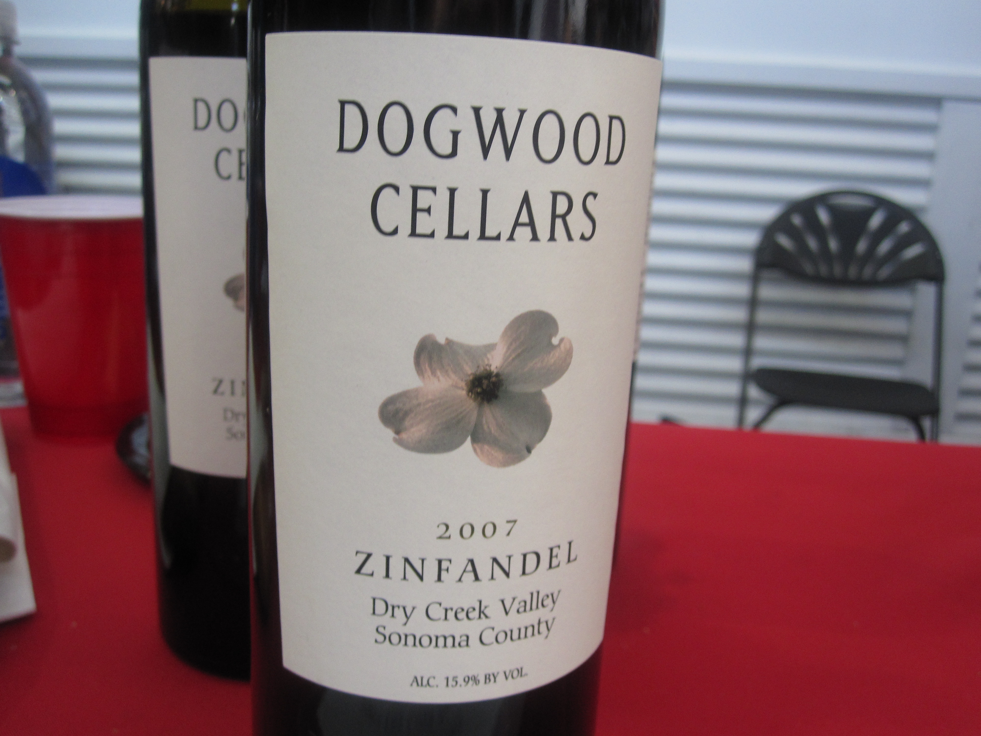 Dogwood Cellars' handsome pourer and smooth, rich mouth feel made me love this wine.