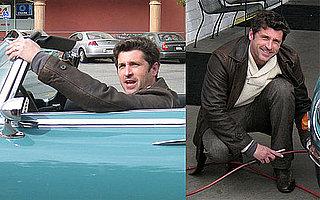 Photos of Patrick Dempsey Cruising Around LA in a Vintage Car