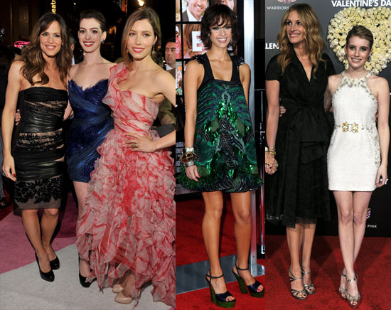 Valentine's Day Premiere Photos Including Jennifer Garner, Jessica Alba, Jessica Biel, Julia Roberts and More 2010-02-09 06:00:00