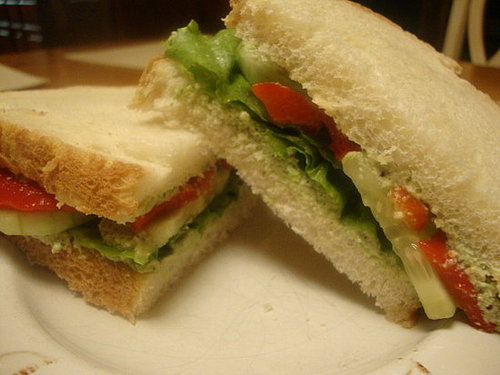 Edamame Pate Sandwiches