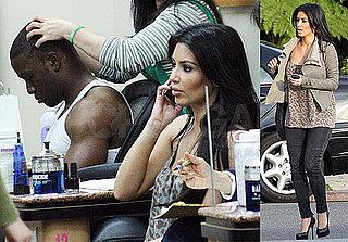 Photos of Kim Kardashian and Reggie Bush at the Nail Salon Together in LA