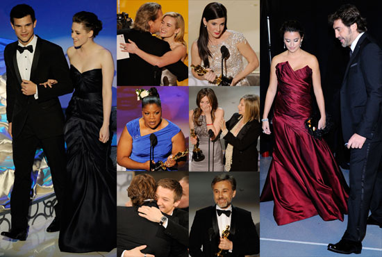 Photos of the 2010 Oscar Ceremony Including Sandra Bullock, Kristen Stewart, Mo'Nique, and More