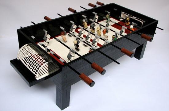 Star Wars Foosball Table Made of Legos