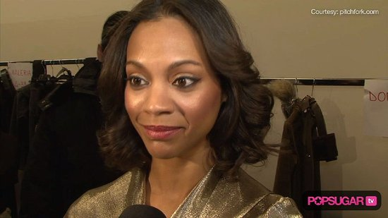 Zoe Saldana Talking About the Oscars at Milan Fashion Week