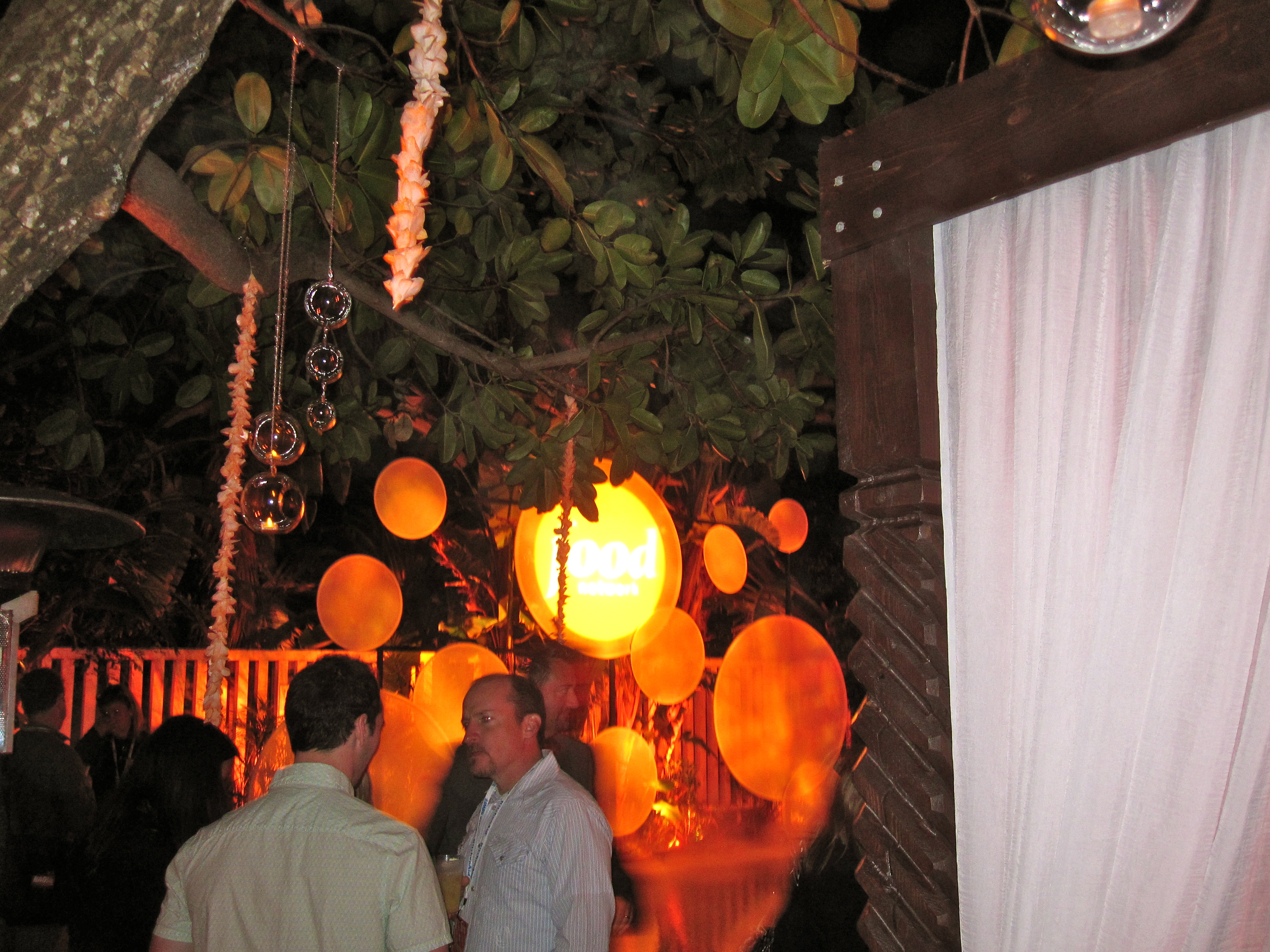 After the Burger Bash, all the Food Network personalities gathered at the Food Network party.