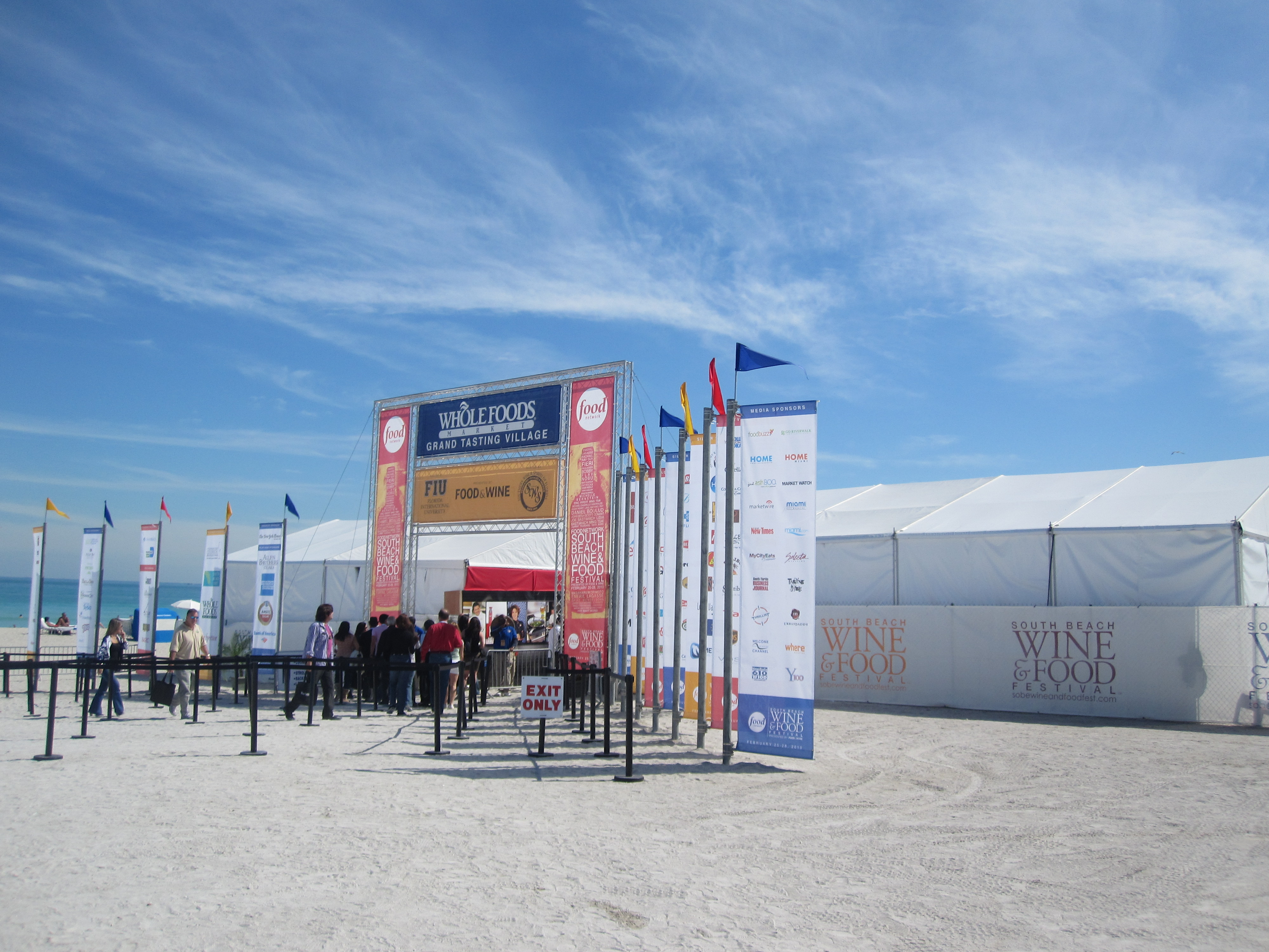 The festival entrance. Everything is on the sand, so if you ever plan on attending, be sure not to wear heels!