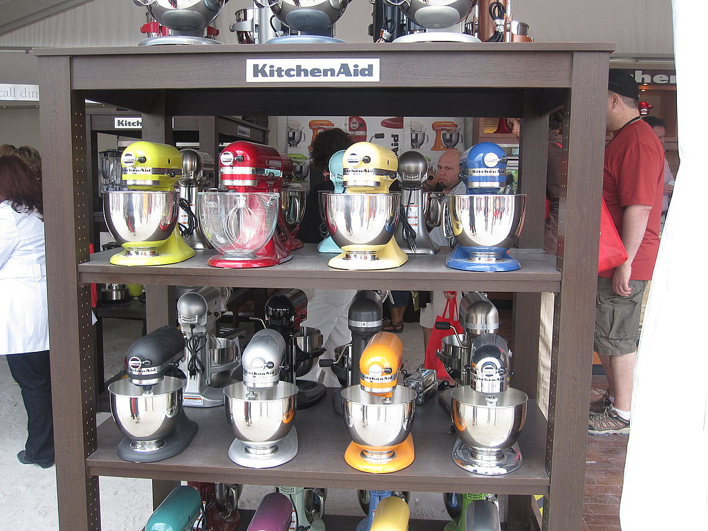 Kitchenaid was a sponsor, so naturally their colorful mixers were on display.