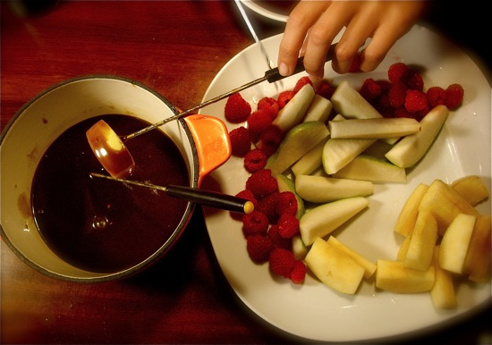 Caramel Fondue With Fruit