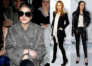 Photos of Kate Moss, Lindsay Lohan, And Vanessa Paradis Exploring Paris Fashion Week