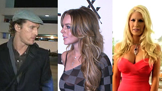 Matthew McConaughey and His Kids in LA, Lindsay Lohan E-Trade Lawsuit, and Heidi Montag Funny or Die Video 2010-03-09 14:24:29