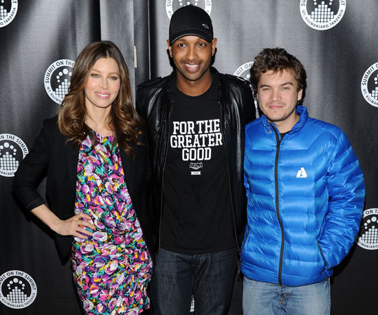 Slide Photo of Jessica Biel, Kenna, and Emile Hirsch at the Premiere of Summit on the Summit Kilimanjaro NYC