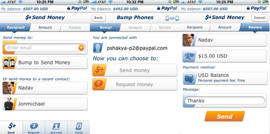 PayPal App Lets You Bump Phones to Make Payment Transfers