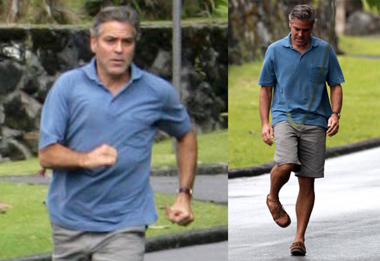 Photos of George Clooney Filming The Descendants in Hawaii