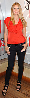 Heidi Klum in Red Top at Heart Truth Event