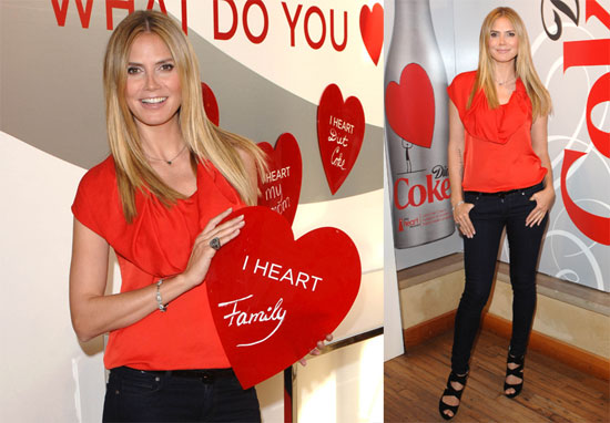 Photos of Heidi Klum at the Heart Truth Pop-Up Experience Wearing Red in Los Angeles 2010-03-21 22:30:05