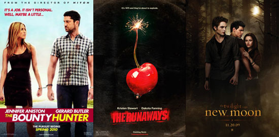 Which Movie Will You See This Weekend — The Bounty Hunter, The Runaways, or New Moon?