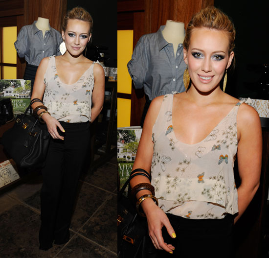 Hilary Duff in Butterfly Tank at Shipley & Halmos Event at Confederacy