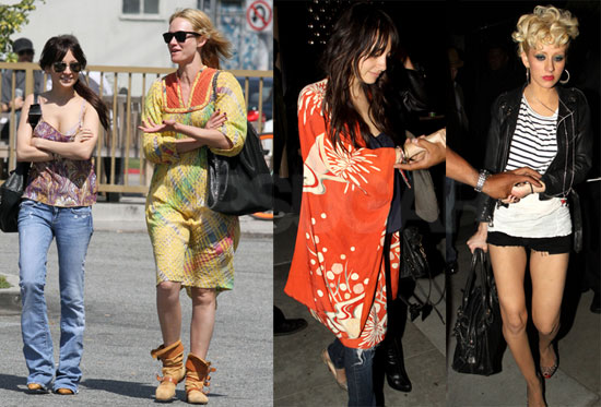 Photos of Nicole Richie and Amber Valletta Together in LA