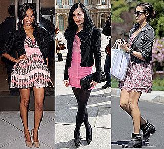 Photo of Zoe Saldana in Pink Louis Vuitton Dress