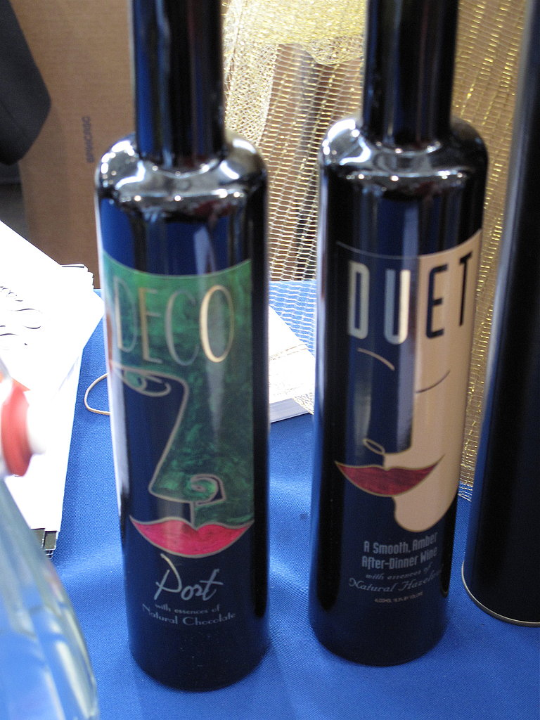 Despite the cheesy wine labels, I was a fan of the Deco Port wines that were being poured with chocolate.
