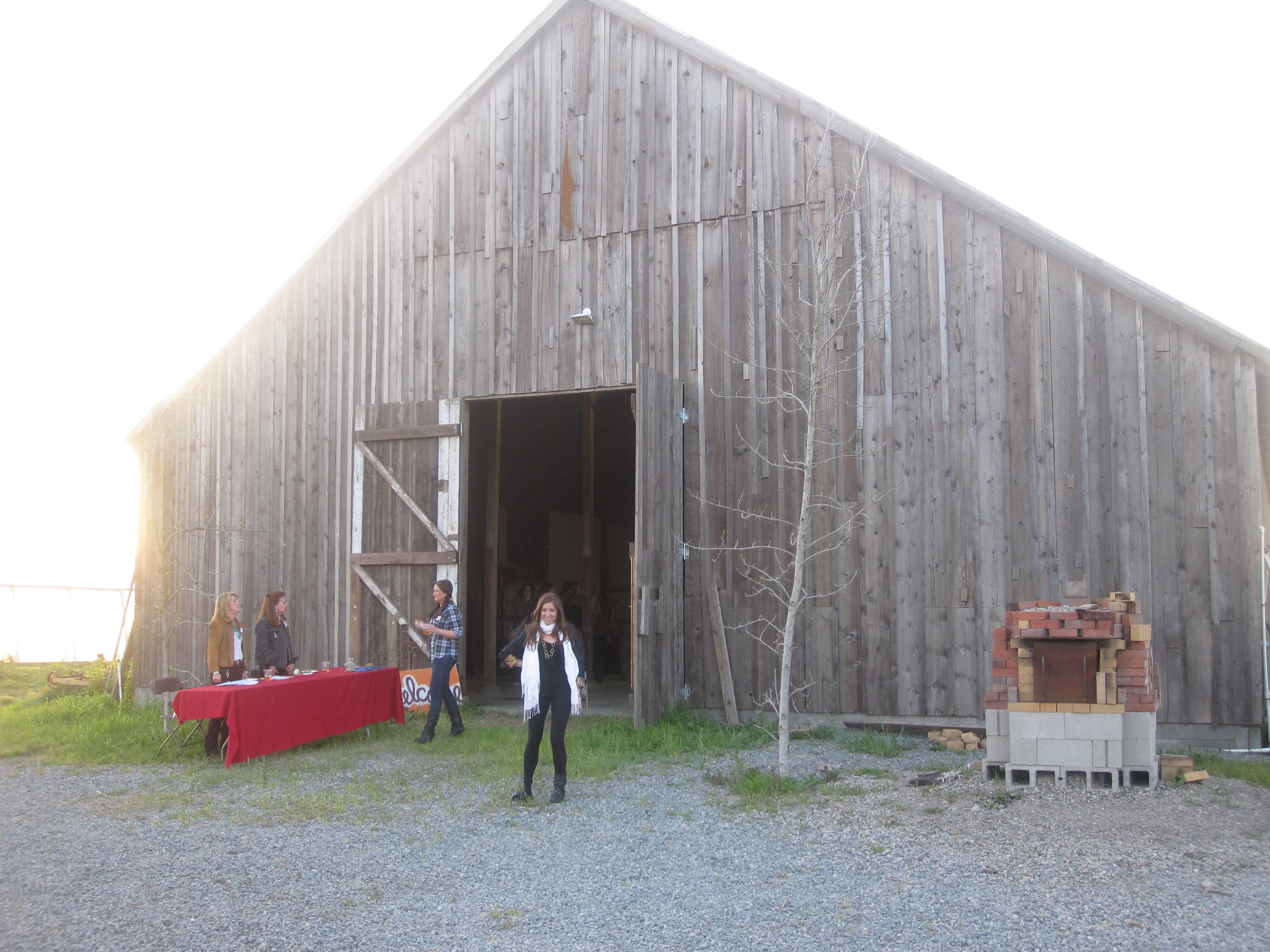 From the outside, the barn doesn't look like much of a party. But inside, it was perfectly decorated.