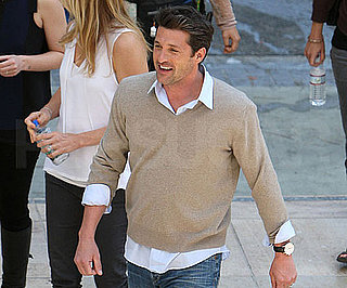 Slide Photo of Patrick Dempsey on Loreal Commercial in LA