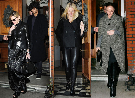 Photos of Gwyneth Paltrow, Madonna, Jesus Luz, Stella McCartney and Valentino at Dinner Together in London