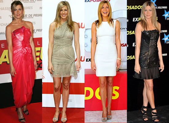 Photos of Jennifer Aniston in Europe Promoting The Bounty Hunter