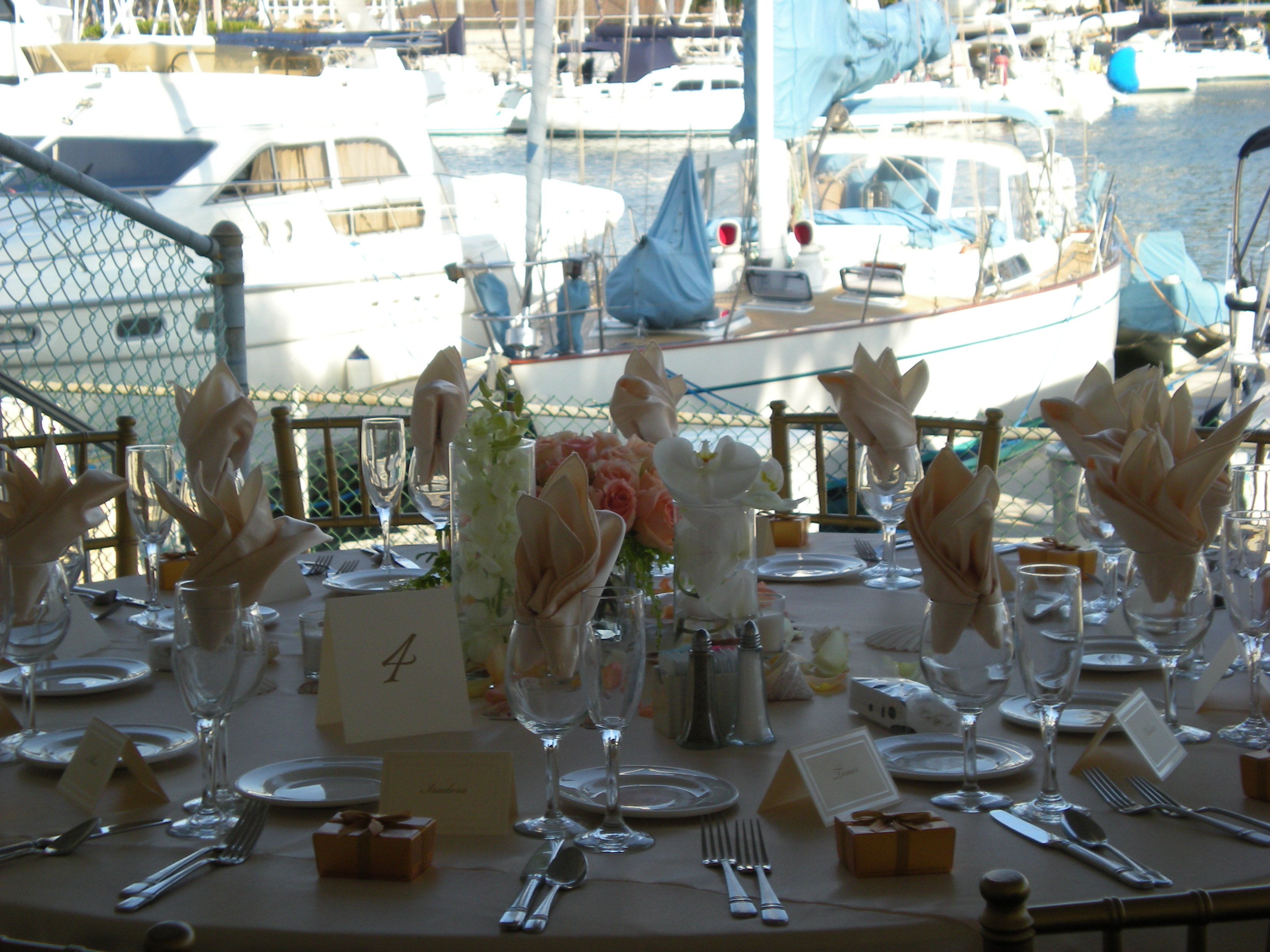 Reception on the Marina