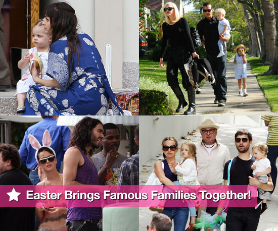 Photos of Celebrity Families on Easter