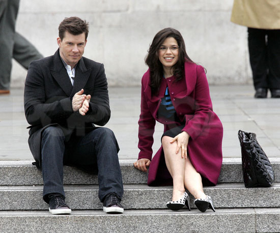Photo of Eric Mabius & his friend  America Ferrera