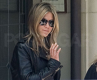 Slide Photo of Jennifer Aniston Filming Just Go With It in LA