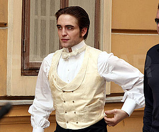 Slide Photo of Robert Pattinson on Bel Ami Set in Budapest