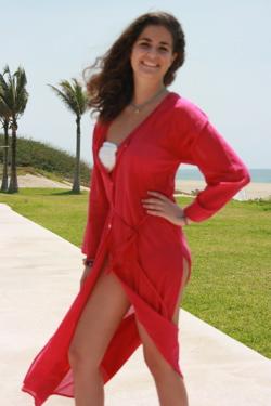 Fab Cover-up by hot LA Luxury Loungewear Designer - on sale!