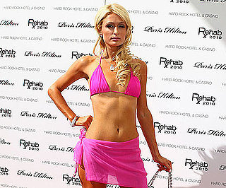 Slide Picture of Paris Hilton Wearing a Pink Bikini in Las Vegas