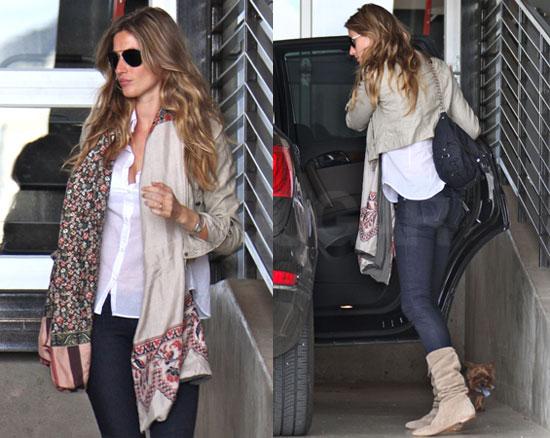 Pictures of Gisele Bundchen Leaving LA Studio