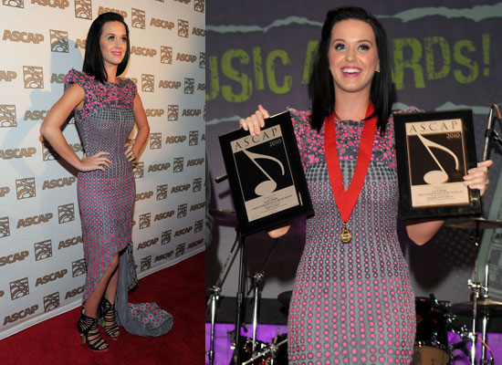 Photos of Katy Perry and Engagement Ring at ASCAP Pop Music Awards as She Accidentally Asked Lindsay Lohan to be Maid of Honour