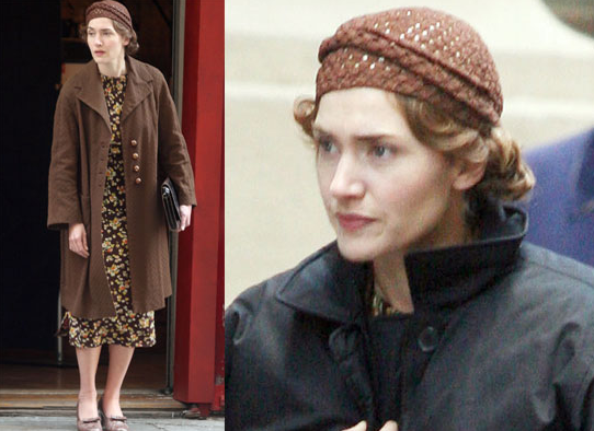 Pictures of Kate Winslet in Costume on the Set of Mildred Pierce