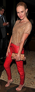 Kate Bosworth in Red Leather Pants