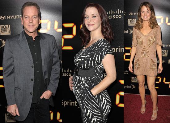 Photos of Kiefer Sutherland, Pregnant Annie Wersching, Mary Lynn Rajskub at 24 Season 8 Finale Party 2010-05-04 06:00:00