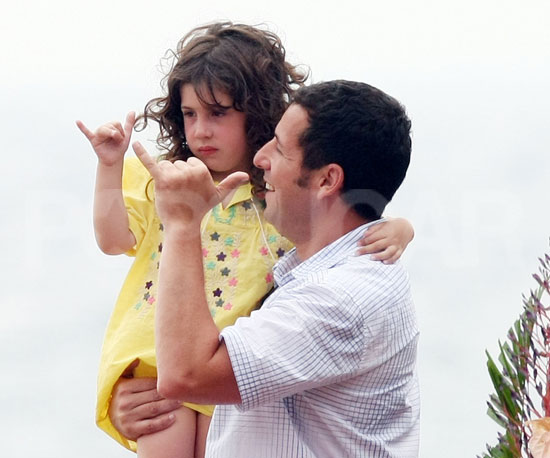Slide Picture of Adam Sandler With Sadie in Maui