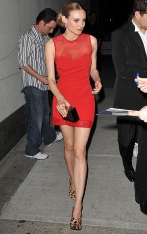 Diane Kruger Wears Alexander Wang in NYC
