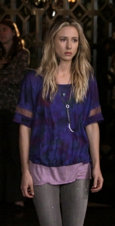 Ivy in Purple Tie-Dye Tee on 90210